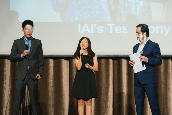 One of the highlights of the evening included a transformation story by an 18-year-old girl (middle) under RADION's STREETKIDS! 2 Programme who had flown over to Singapore specially for the event