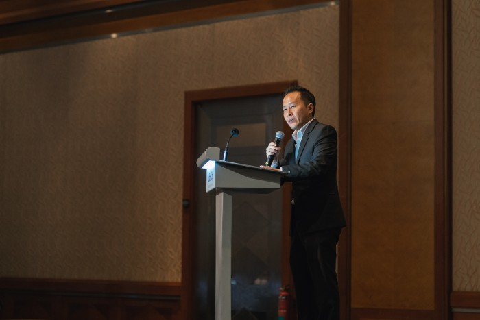 Founder and Executive director of RADION International, Mr Eugene Wee giving his address to guests that evening