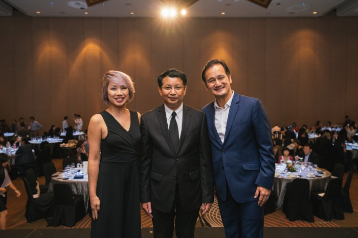 The dinner was graced by Minister Chairat. Guests included local radio DJ and host, Vernetta Lopez, Emcee Gurmit Singh, and partners and supporters of RADION International