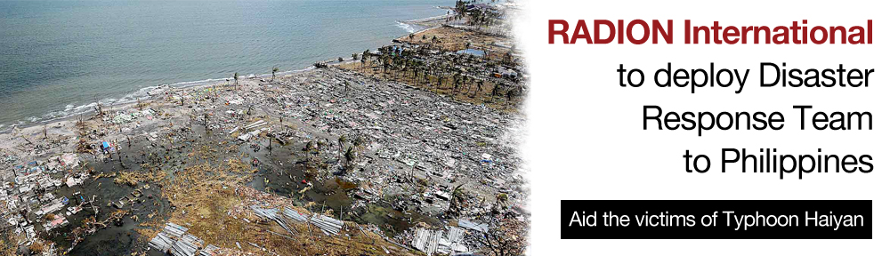 Breaking News : RADION International To Deploy Disaster Response Team To Philippines